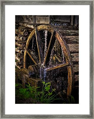 Mill Wheel Framed Print by Dave Bosse
