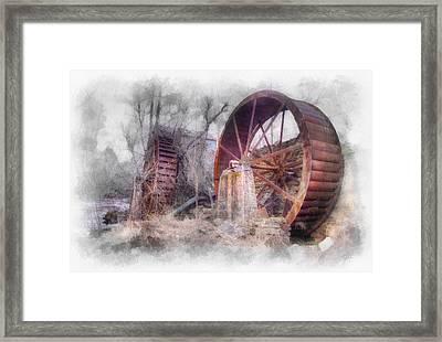 Mill Wheels Framed Print by Rick Lloyd