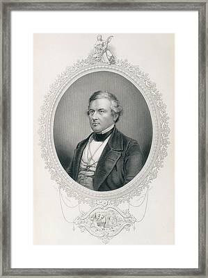 Millard Fillmore, From The History Of The United States, Vol.ii, By Charles Mackay, Engraved Framed Print by Mathew Brady