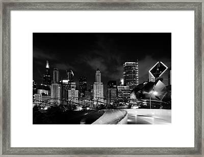 Millenium Bw Framed Print by Brent Blanc