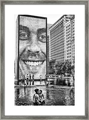 Millenium Park Smile Framed Print by Robert  FERD Frank