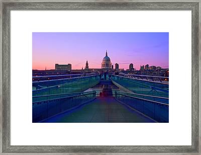 Millenium Thames Bridges  Framed Print by David French