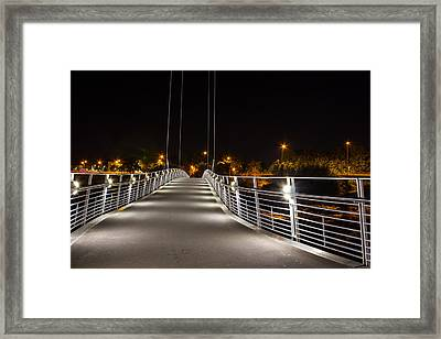 Millennium Bridge Lancaster Framed Print by Paul Madden