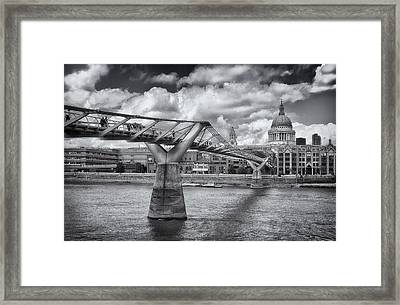 Millennium Bridge - St Pauls Cathedral Framed Print