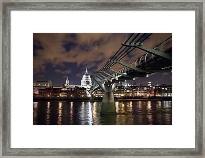 Millennium Bridge Framed Print by Stephen Norris