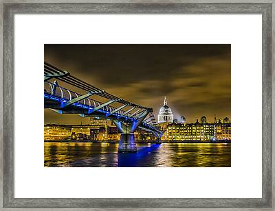 Millennium Bridge With St Pauls Framed Print by Ian Hufton