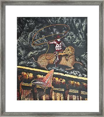 Millennium  Cowboy Framed Print by Larry Butterworth