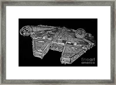 Millennium Falcon Framed Print by Kevin Fortier