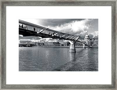 Millennium Foot Bridge - London Framed Print by Mark E Tisdale