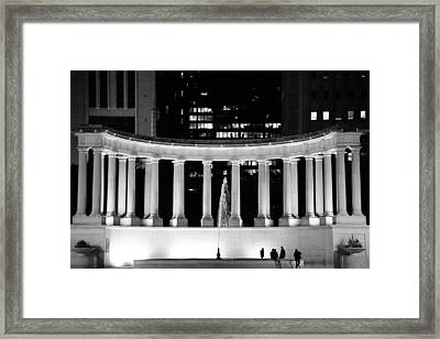 Millennium Monument And Fountain Chicago Framed Print by Christine Till