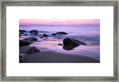 Millennium Sunrise Singing Beach Framed Print