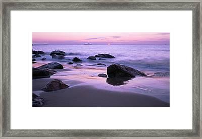 Millennium Sunrise Singing Beach Framed Print by Michael Hubley