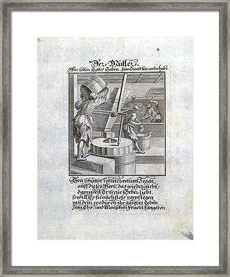 Miller, A Person Who Operates A Mill, Old Master Print Framed Print