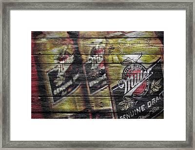 Miller Genuine Draft Framed Print by Joe Hamilton