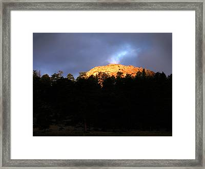Framed Print featuring the photograph Miller Moth Mountain by Craig T Burgwardt
