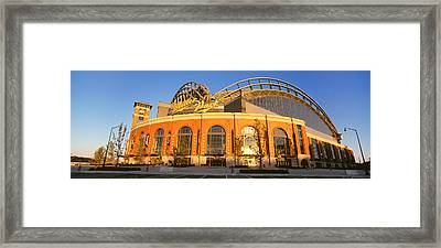 Miller Park Milwaukee Wi Framed Print by Panoramic Images