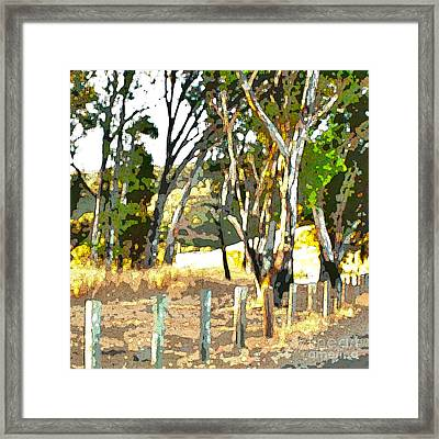Miller Road Framed Print by Artist and Photographer Laura Wrede