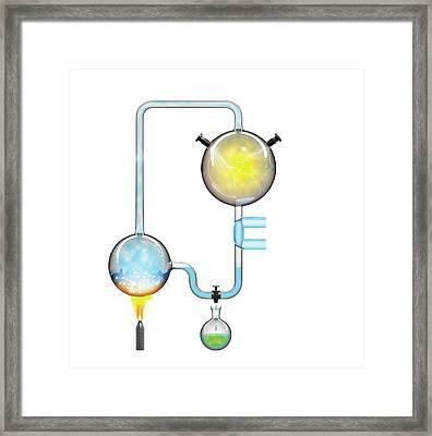 Miller-urey Experiment Framed Print by Jose Antonio Pe�as