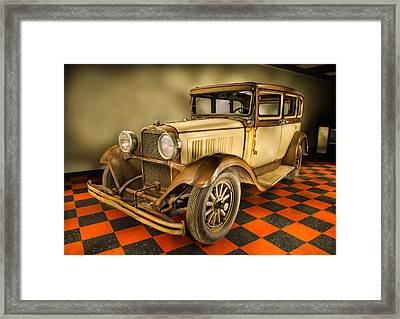 Millers Chop Shop 1929 Dodge Victory Six Before Framed Print by Yo Pedro