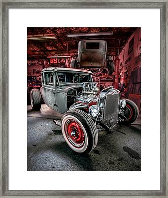 Millers Chop Shop 1931 Ford Coupe Framed Print