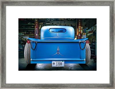 Millers Chop Shop 46 Chevy Truck Rear Framed Print