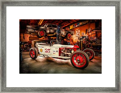 Millers Chop Shop Track T Toyota Framed Print by Yo Pedro