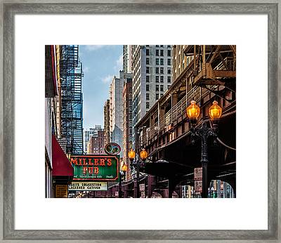 Framed Print featuring the photograph Miller's Pub  by James Howe