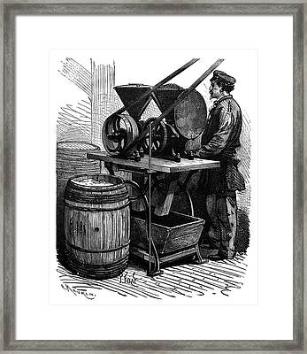 Milling Insects For Dyes Framed Print by Science Photo Library
