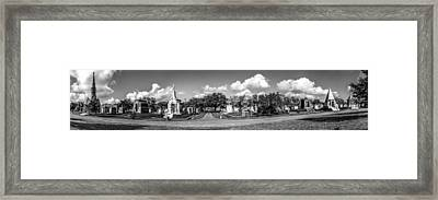 Millionaires Row - Metairie Cemetery Framed Print by Andy Crawford