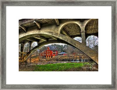 Millmore Mill Downunder Hwy 16 Bridge Hancock County Framed Print by Reid Callaway