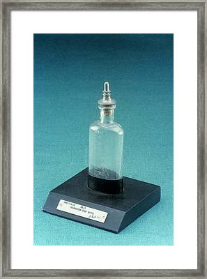 Mills Chloroform Drop Bottle Framed Print