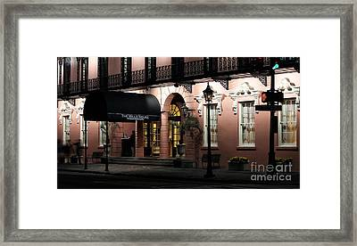 Mills House At Night Framed Print by John Rizzuto