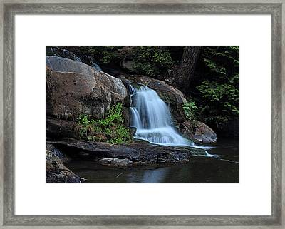 Millstone River Falls Framed Print by Randy Hall