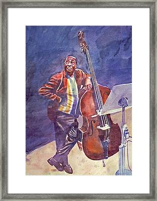 Milt Hinton Framed Print by David Lloyd Glover
