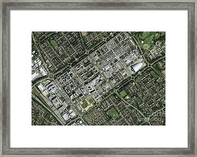 Milton Keynes, Aerial Photograph Framed Print by Getmapping Plc