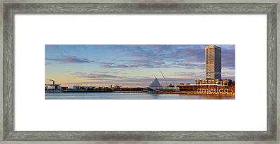 Framed Print featuring the photograph Milwaukee At Sunrise  by Ricky L Jones