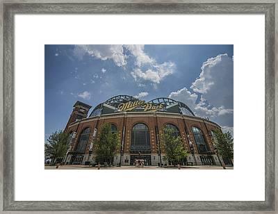 Milwaukee Brewers Miller Park 4 Framed Print by David Haskett