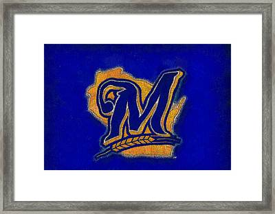 Milwaukee Brewers Framed Print by Dan Sproul