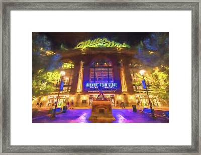 Milwaukee Brewers Miller Park Painted Digitally Framed Print