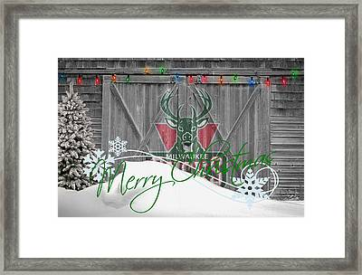Milwaukee Bucks Framed Print by Joe Hamilton