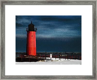 Milwaukee Pierhead Lighthouse Framed Print by David Blank