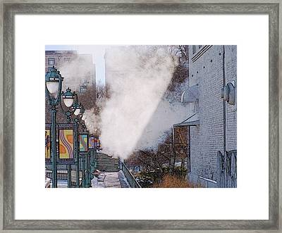 Milwaukee River Walk 1 - Winter 2013 Framed Print