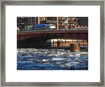 Milwaukee River - Winter 2014 Framed Print by David Blank
