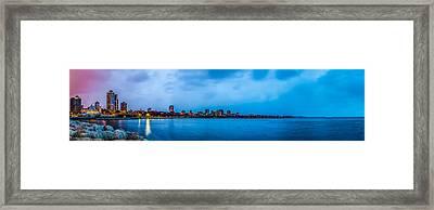 Framed Print featuring the photograph Milwaukee Skyline - Version 2 by Steven Santamour