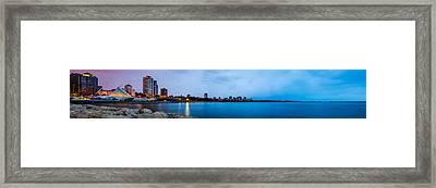 Framed Print featuring the photograph Milwaukee Skyline - Version 1 by Steven Santamour