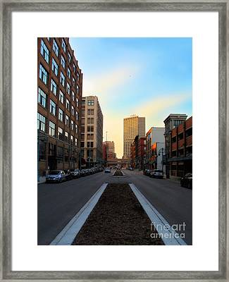Milwaukee Street - Milwaukee Wi Framed Print by David Blank