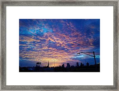 Milwaukee Sunrise Framed Print