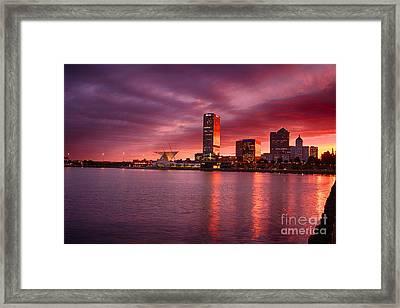 Milwaukee Sunset Framed Print