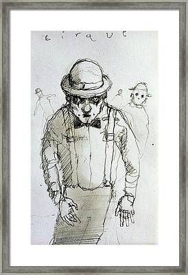 Mime Framed Print by H James Hoff