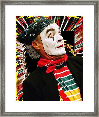 Mime Scared Framed Print by Margaret Newcomb